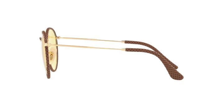bf557d2c0 Ray-Ban Round Craft RB3475Q 90424A Marrom / Couro Lente Fotossensível  Amarelo Tam 50 Produto não disponível