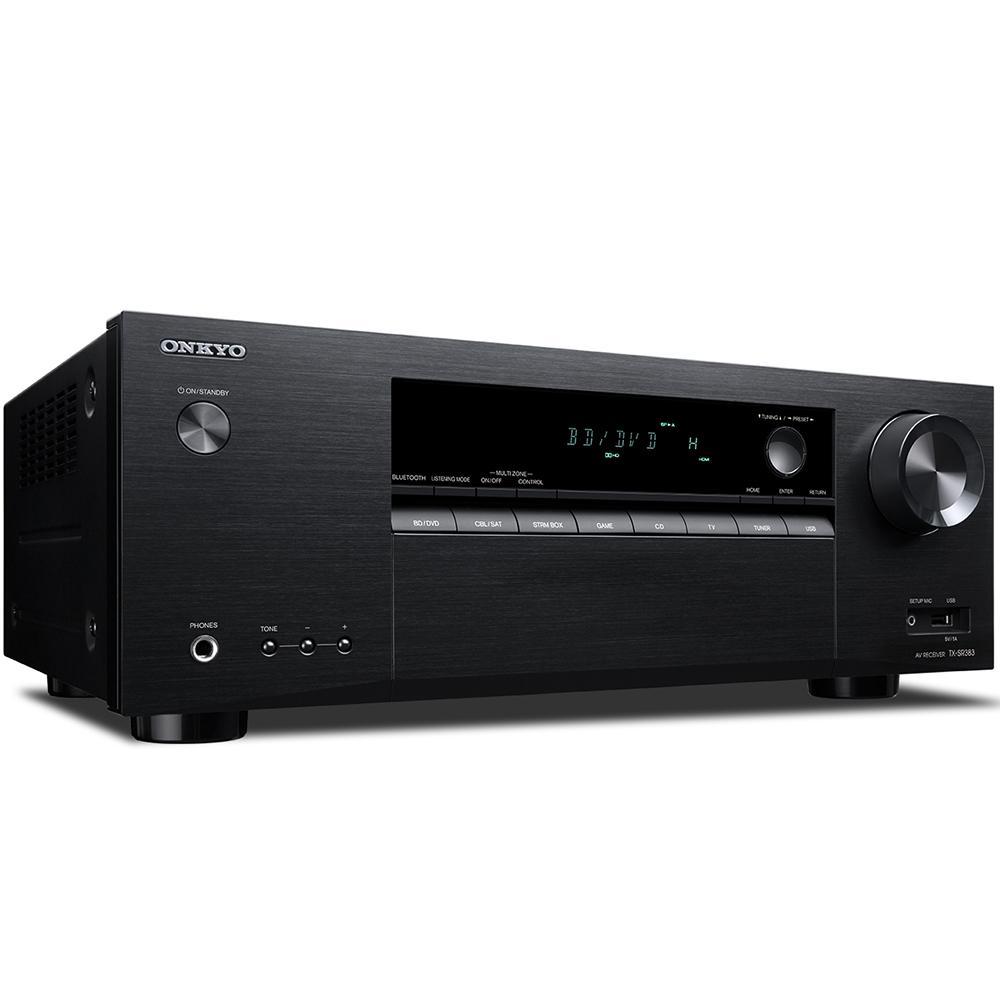 Receiver 7 2ch 155W Onkyo TX-SR383 4K UltraHD HDR Bluetooth USB Zona 2