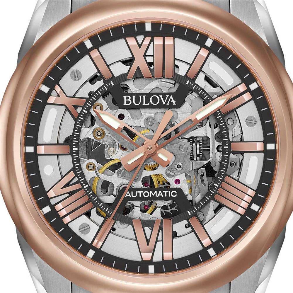 16029e8165f Relógio Bulova Masc Esqueleto Automático WB31998S   98A166 - Relógio ...