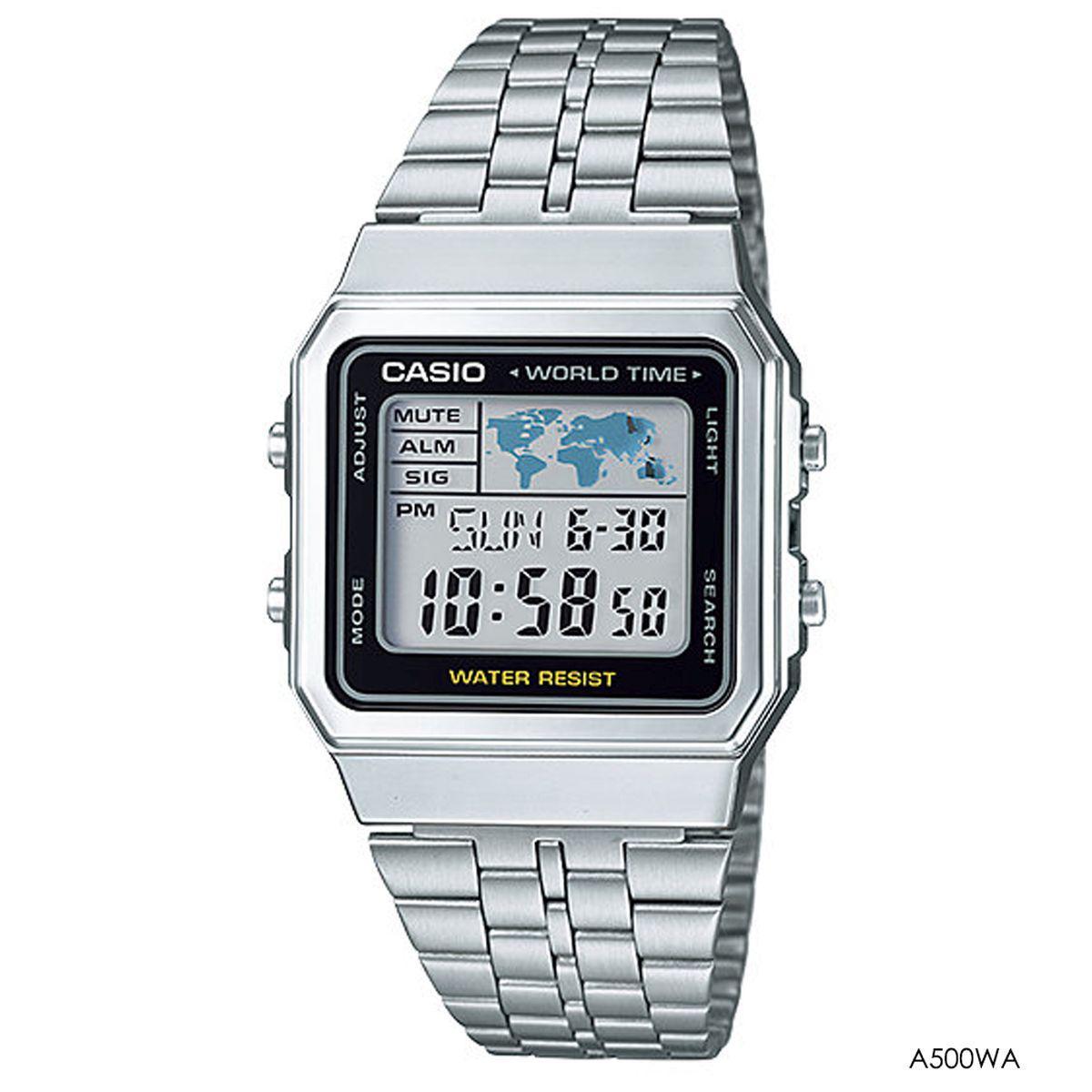 b0758d9b795 Relógio casio feminino vintage prata a500wa - Relógio Feminino ...