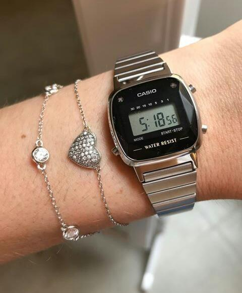446e01a27da Relógio Casio La670wad 1df Diamante Prata Retro Vintage Original R  269