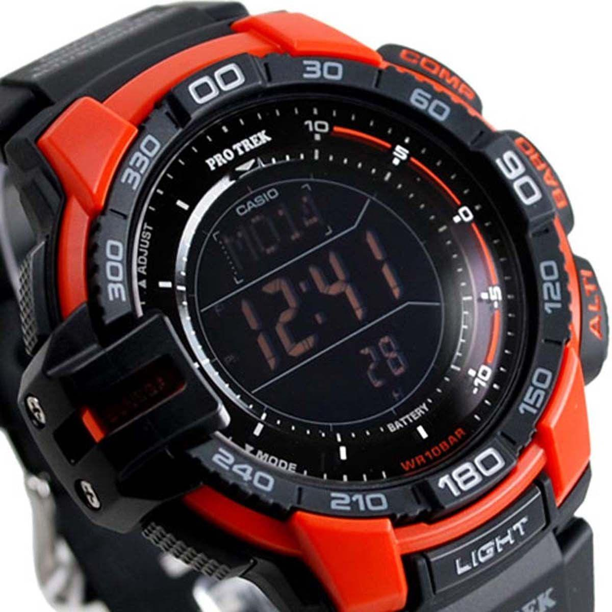 4eec6b0cbc3 Relógio Casio ProTrek Triplo Sensor Tough Solar Digital Masculino  PRG-270-4DR Produto não disponível