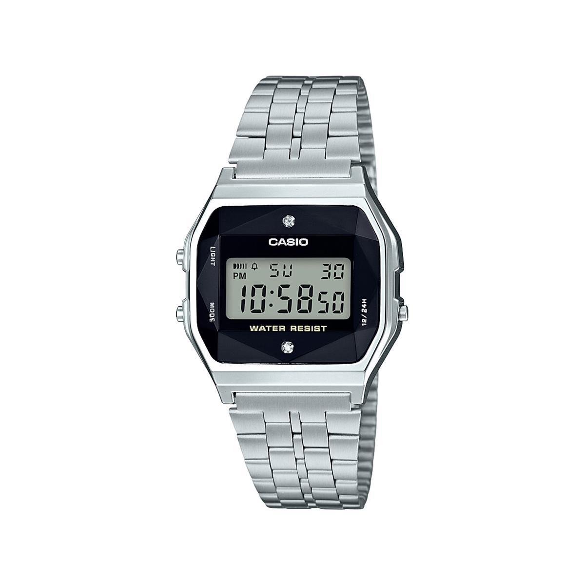 f342f4f838d Relógio Casio Vintage Diamond Prata - A159WAD-1DF-BR Produto não disponível