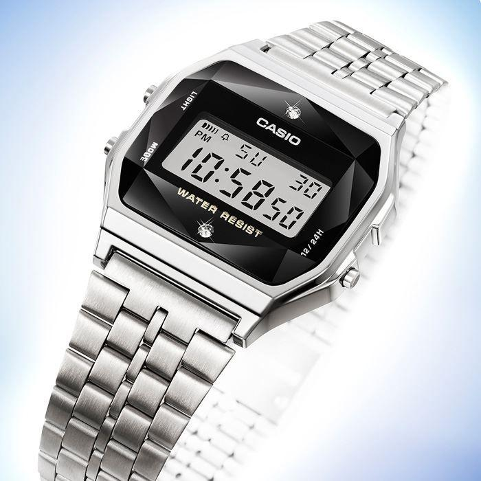 64846360779 Relógio Casio Vintage Diamonds Prata Unissex A159WAD-1DF Produto não  disponível