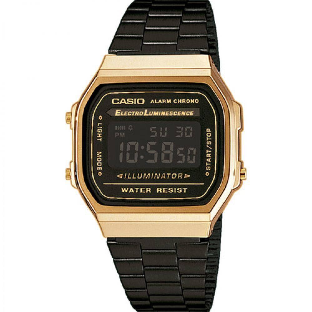 a331300d89a Relógio Casio Vintage Digital Fashion A168WEGB-1BDF Unissex Produto não  disponível