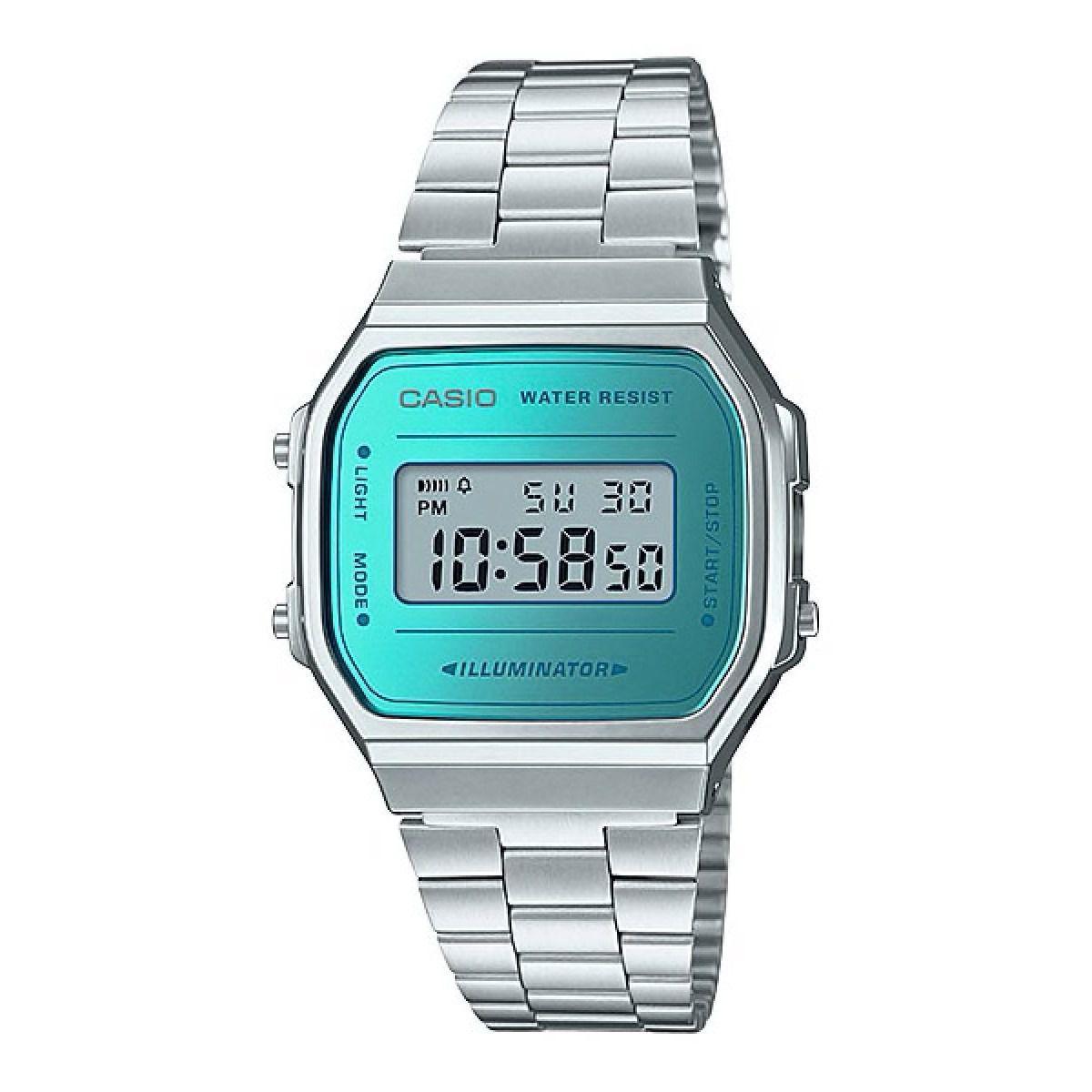 2bb7cb69122 Relógio Casio Vintage Espelhado Azul Unissex A168WEM-2DF Produto não  disponível