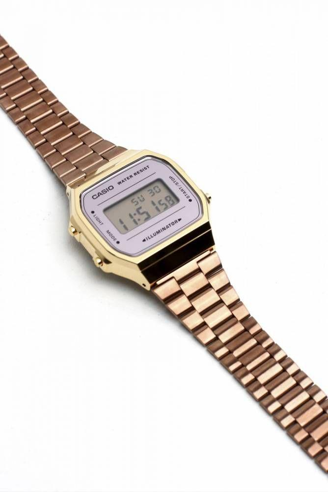 f1caf0b086c Relógio Casio Vintage Espelhado Bicolor Rose Dourado Unissex A168WECM-5DF R   379