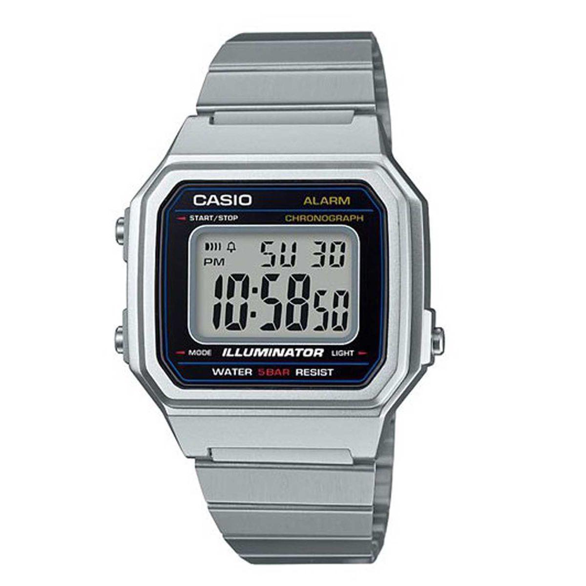 2c84dfda0a7 Relógio Casio Vintage Prata Digital Unissex B650WD-1ADF - Relógio ...