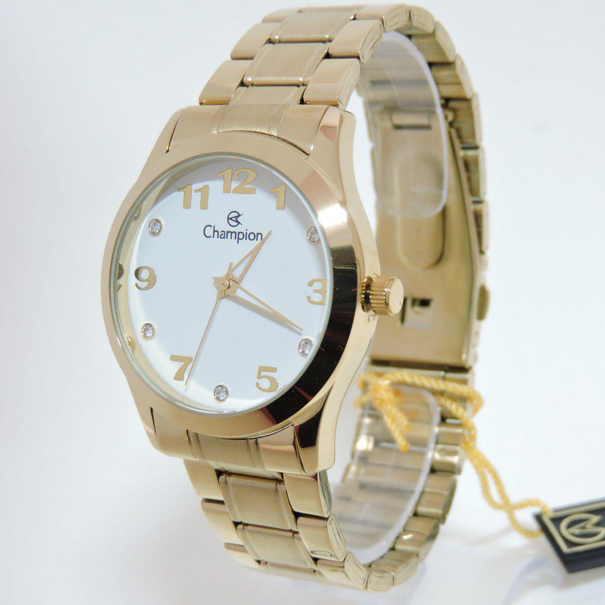 d2ead54fca9 Relogio Champion Feminino Dourado Original Cn29070h - Relógio ...