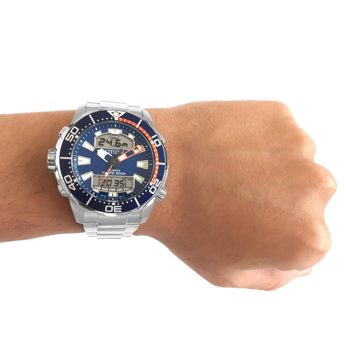 228f47bc94e Relógio Citizen Aqualand Caixa de 46 MM Pulseira em Aço - Relógios e ...