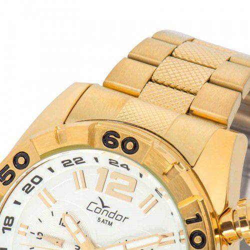 a039a3ecc7f13 Relógio Condor Masculino Civic Dual Time Dourado COVD33AA 4K R  279