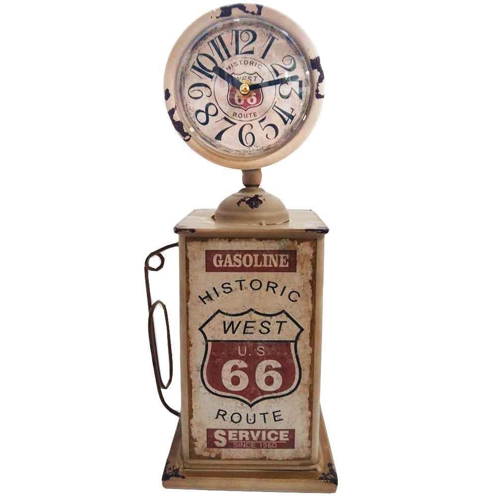 451eddad42a Relógio De Mesa Retrô Bomba De Gasolina Branca Pequena - Versare anos  dourados R  359