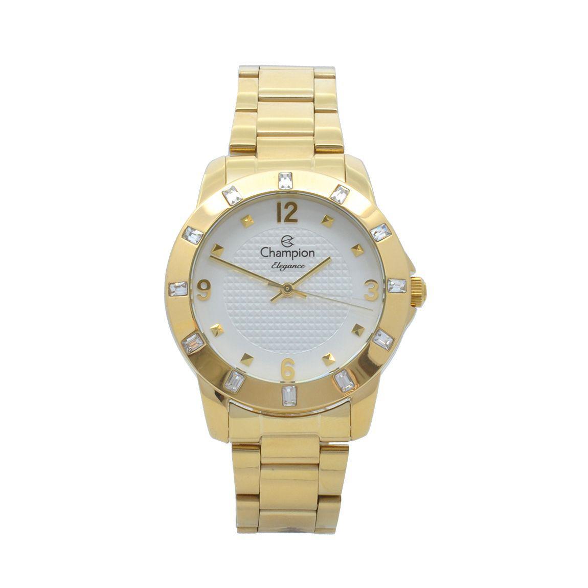 Relógio de Pulso Champion Feminino Kit com Brinco e Corrente CN27312W -  Dourado - Champion watch R  209,00 à vista. Adicionar à sacola 886aeaf45f