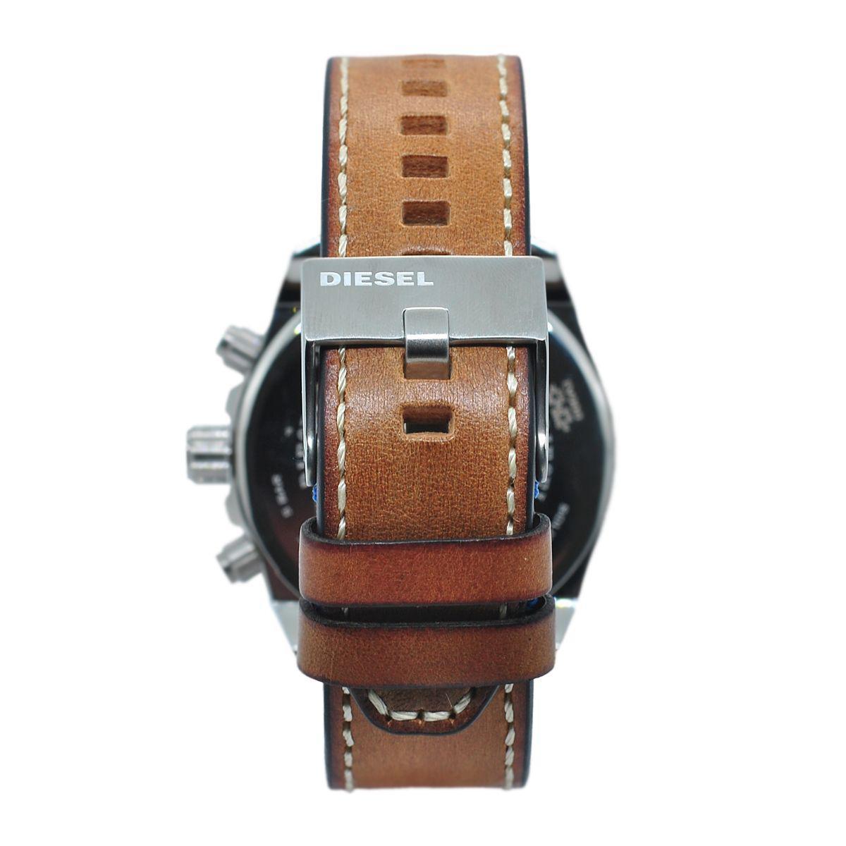 0d0835b33cc Relógio de Pulso Diesel Stand Out Ms9 Chrono Pulseira de Couro Masculino  DZ4470 0MN R  1.474