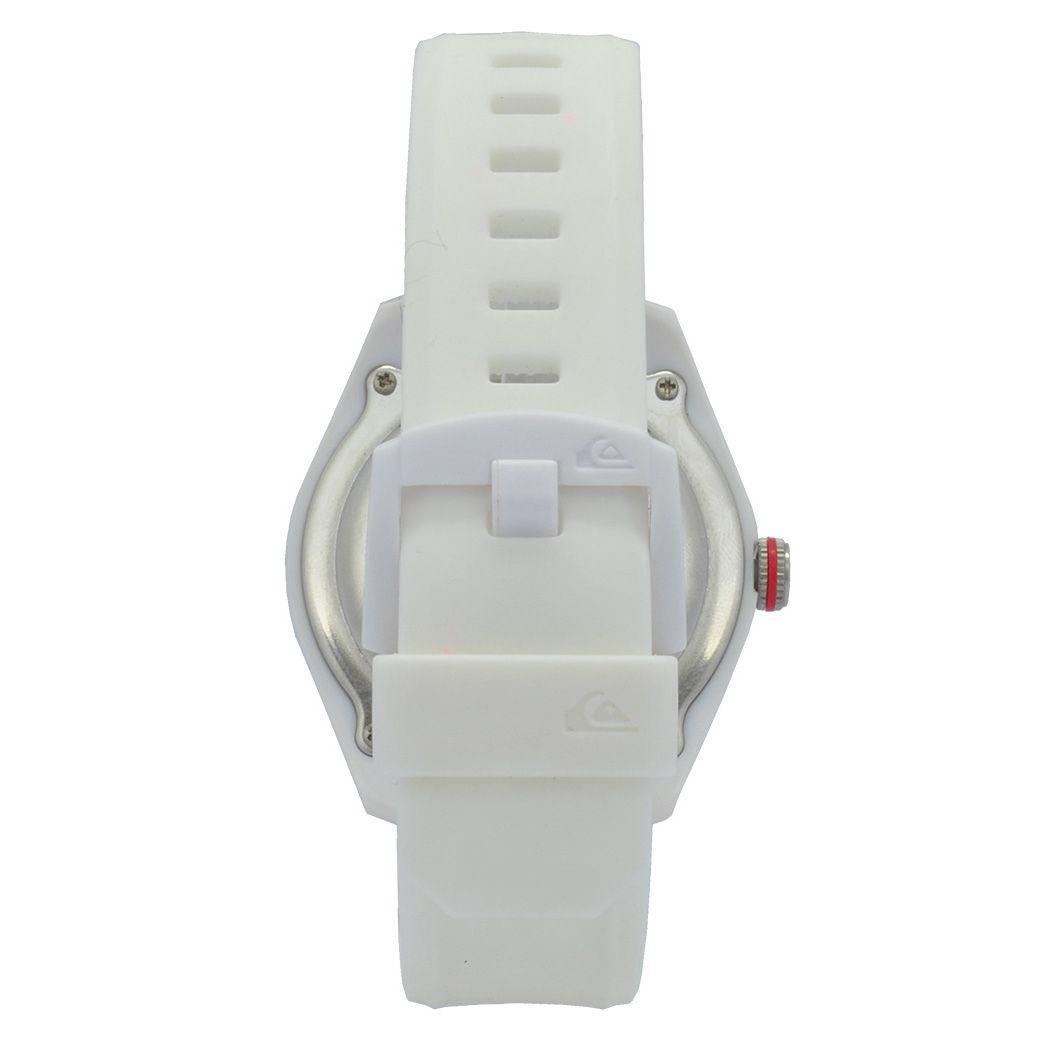 1ce42ca84cd Relógio de Pulso Quiksilver The Young Gun Unissex com Pulseira de Silicone  QS 1021WTWT - Branco Produto não disponível