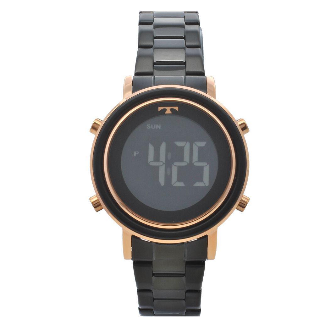 8f37cb34b7a Relógio de Pulso Technos Digital Feminino BJ3059AA 5P - Preto e Rosé R  389