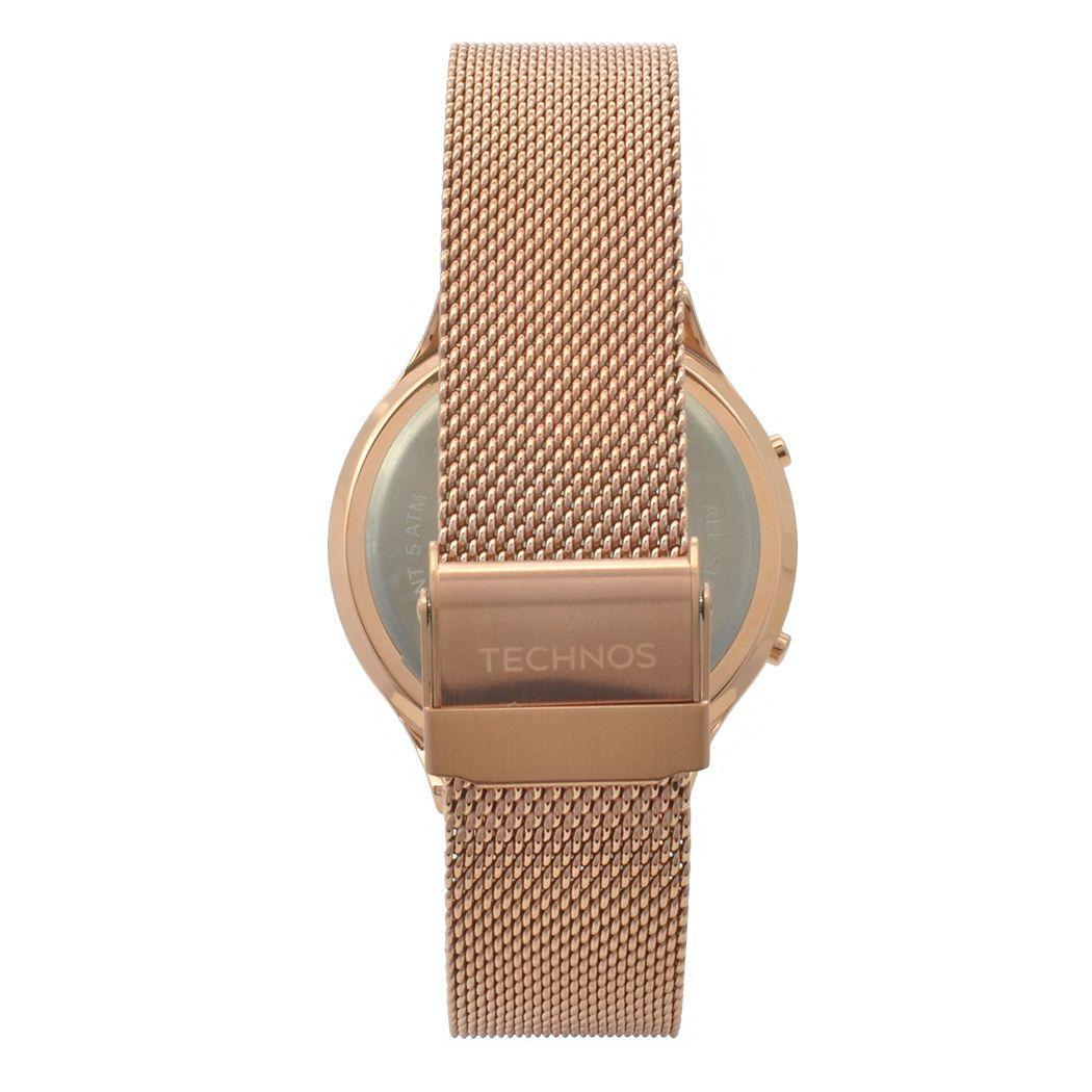 d0cad1dc0d2d1 Relógio de Pulso Technos Digital Feminino BJ3572AD 4P - Rosé Produto não  disponível