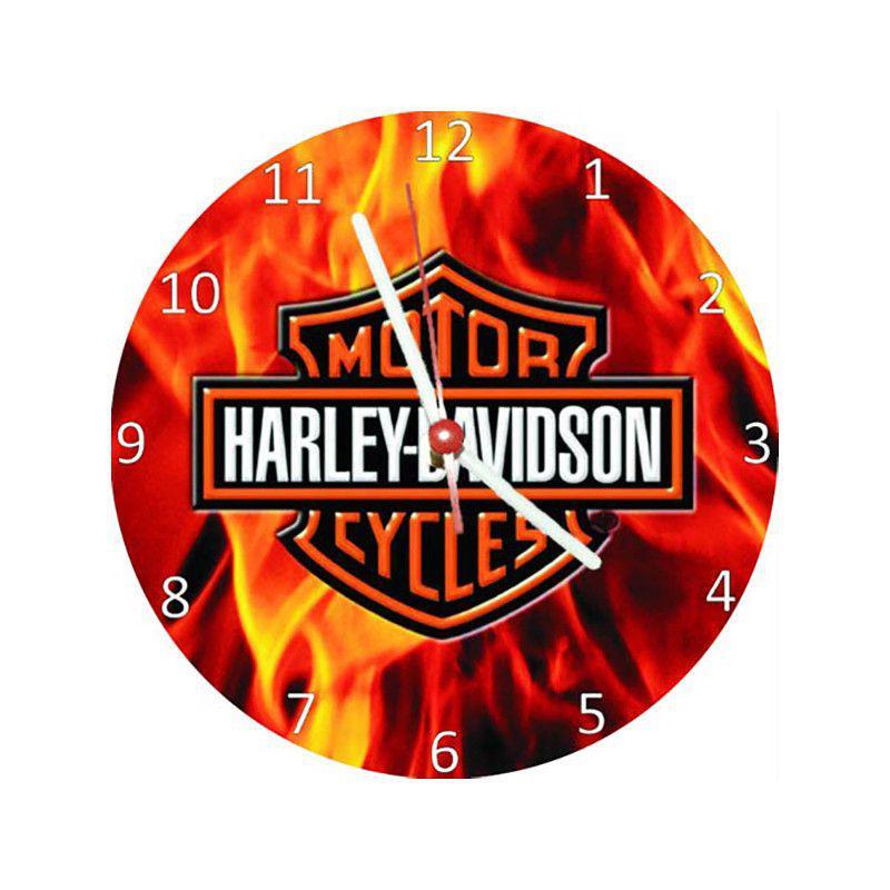 a74bf90c306 Relógio Decorativo Harley Davidson Fire - All classics - Relógio de ...