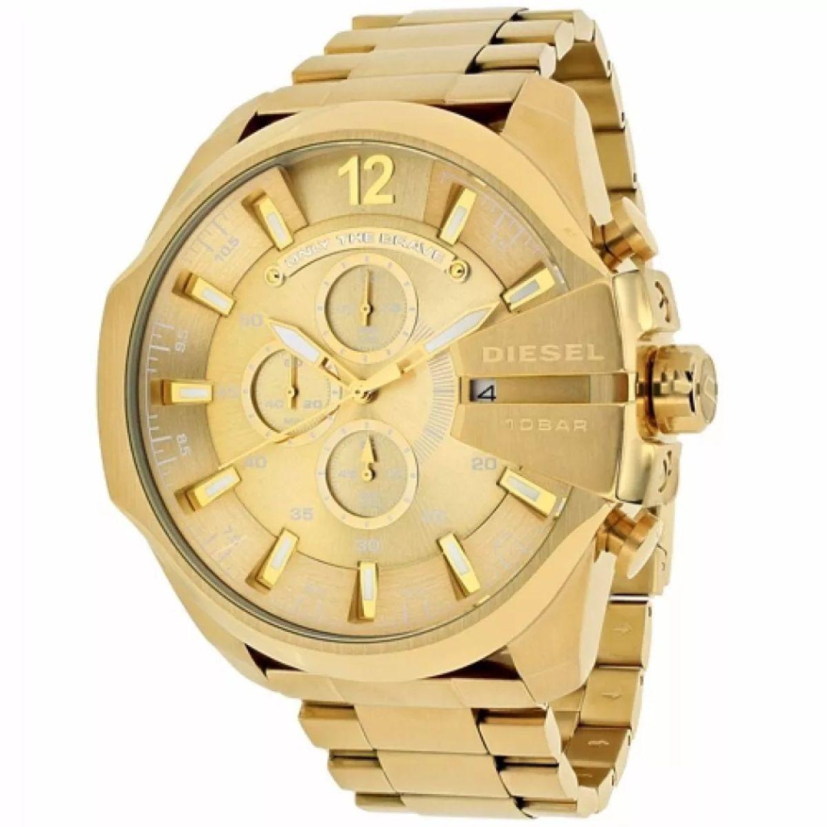 6eec003fad4 Relogio diesel masculino dourado dz4360 - Relógio Masculino ...