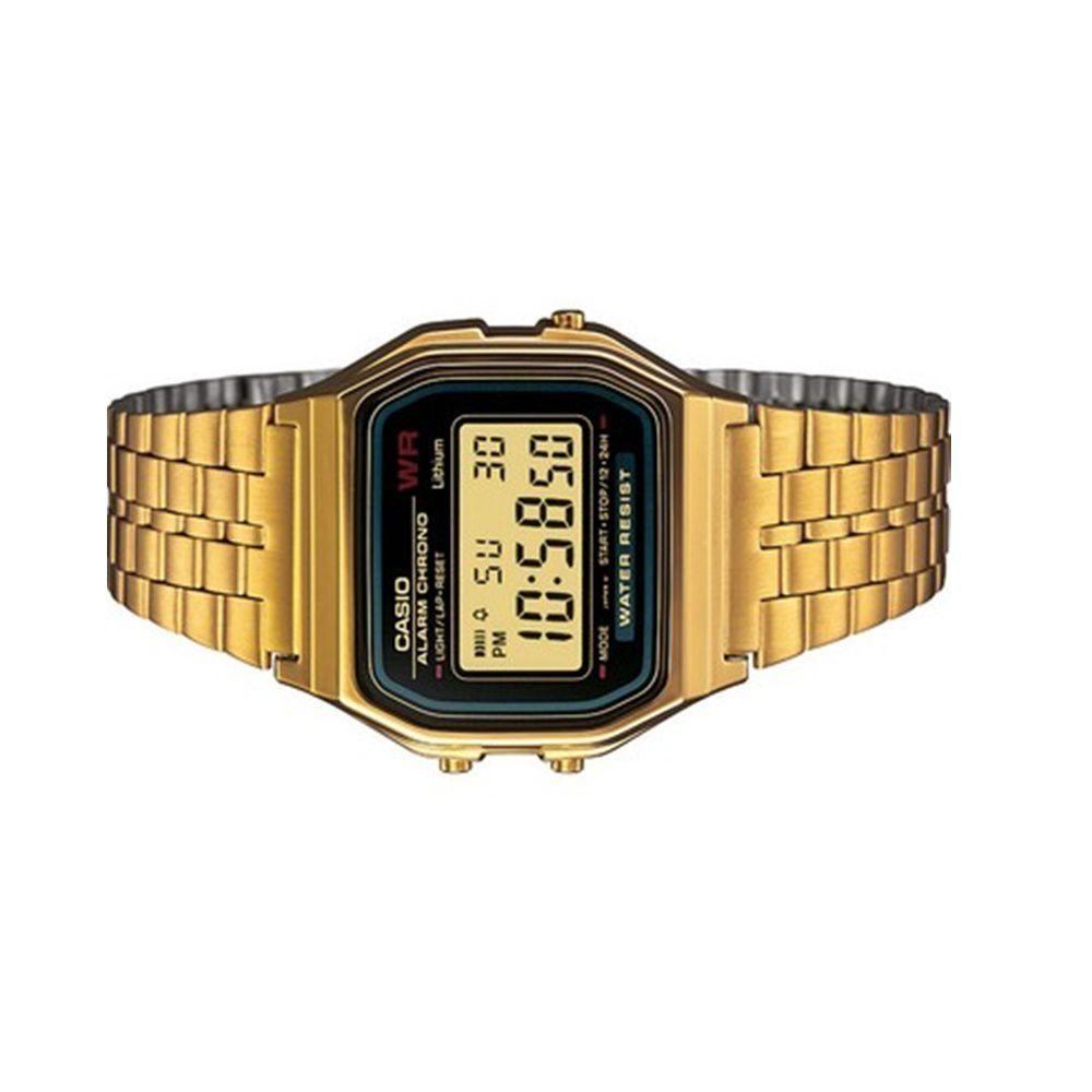 ea38075c75e Relógio Digital Casio Vintage Dourado Quadrado A159WGEA-1DF Produto não  disponível