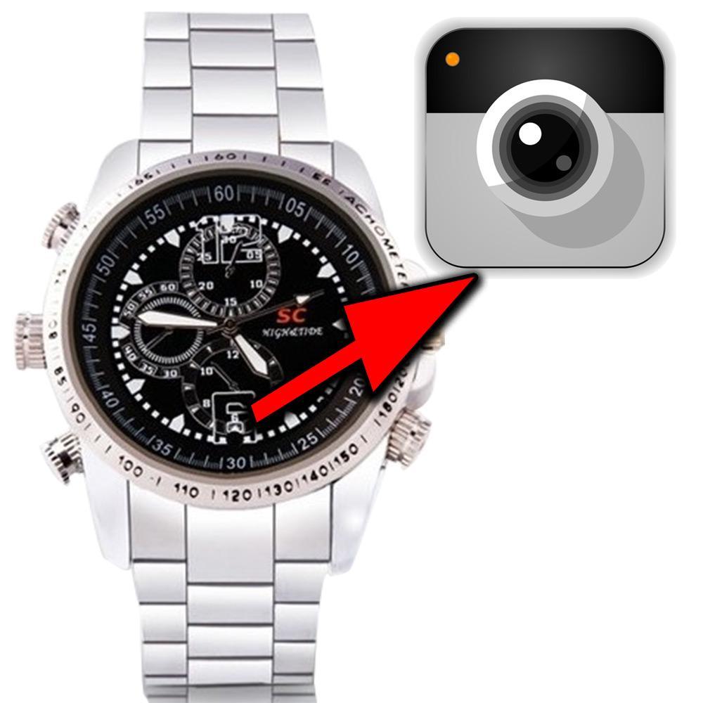17db73910eb Relogio Espiao com Mini Filmadora Camuflada Espionagem 8GB - Emporio forte  R  169