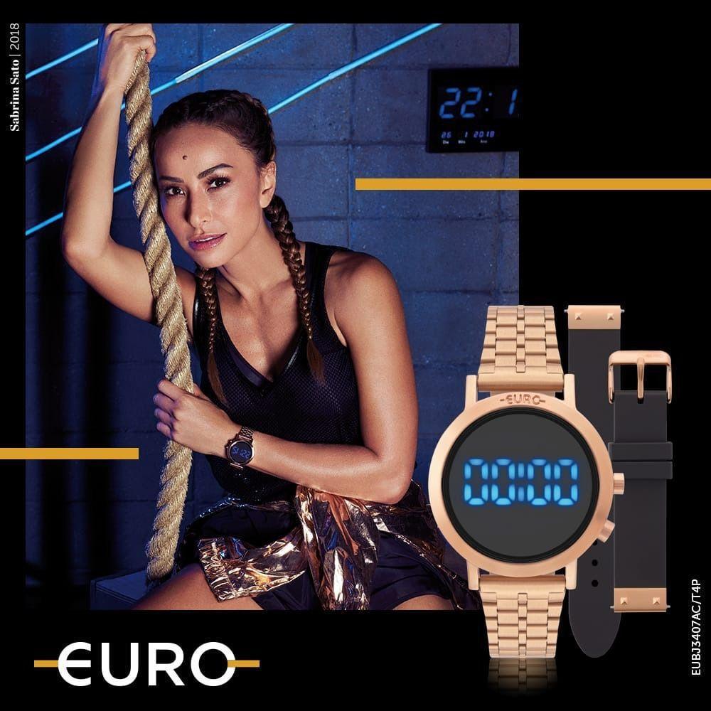 d81824531ab Relógio Euro Feminino Fashion Fit Rose Troca Pulseiras EUBJ3407AC T4P R   389