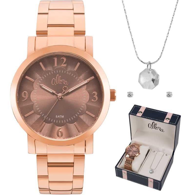 57246f6edfd Relógio Feminino Allora Al2035fnb k4j Rosê - Relógio Feminino ...