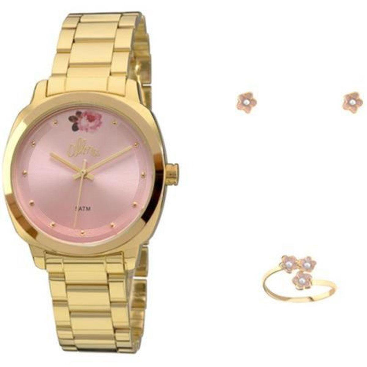 aab91a23655 Relogio Feminino Allora Analogico Fashion - Al2035fai k4t + Folheado 18k -  Dourado Produto não disponível