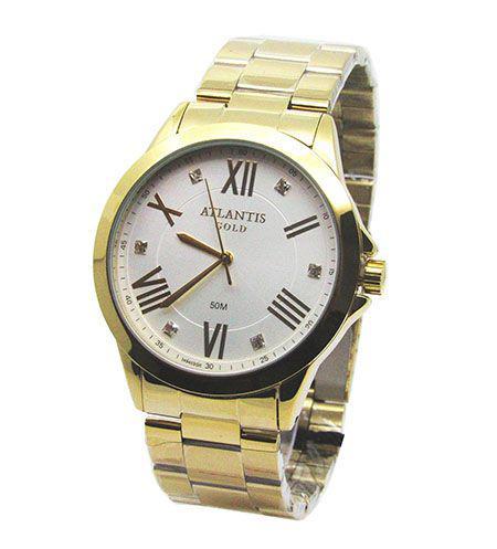 b1e5252a209 Relogio feminino atlantis g3494 dourado fundo branco - Relógio ...