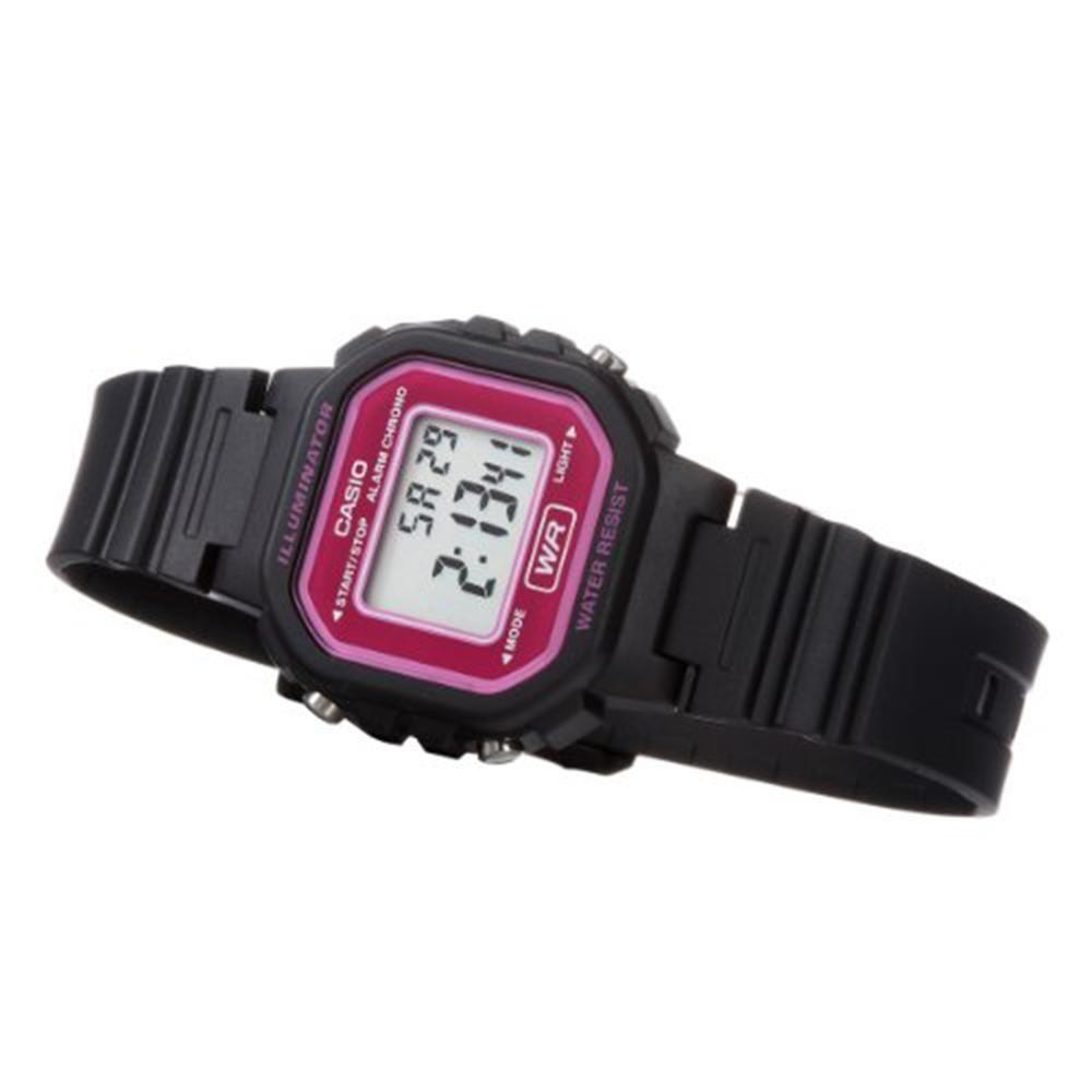 6bcad3a6549 Relógio Feminino Casio Digital LA-20WH-4ADF Preto Lilás Produto não  disponível