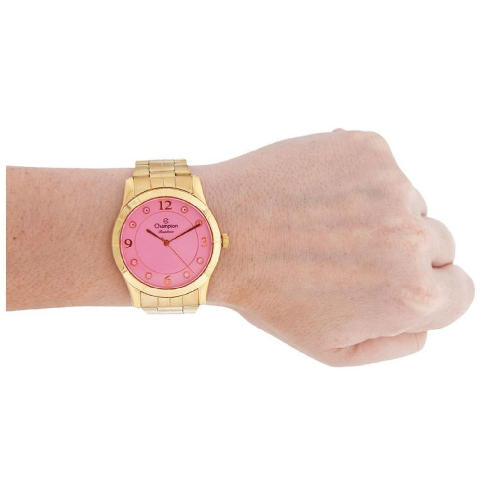 546a51018650 Relógio Feminino Champion Rainbow Analógico CN29909I - Dourado/Rosa ...
