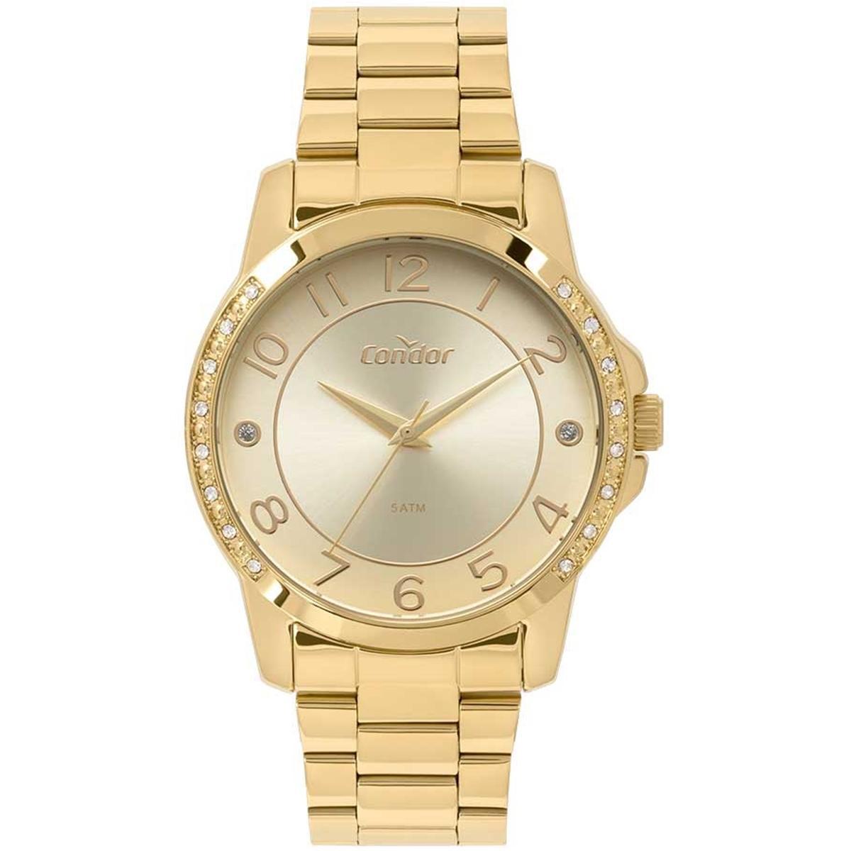 1f78afcef25 Relogio Feminino Condor Dourado CO2035KOM 4D - Relógio Feminino ...