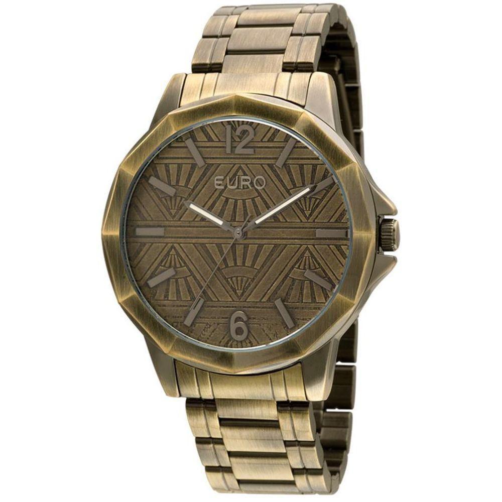fe7709deced Relógio Feminino Euro Bronze Envelhecido - Eu2036jj 4d - Relógio ...
