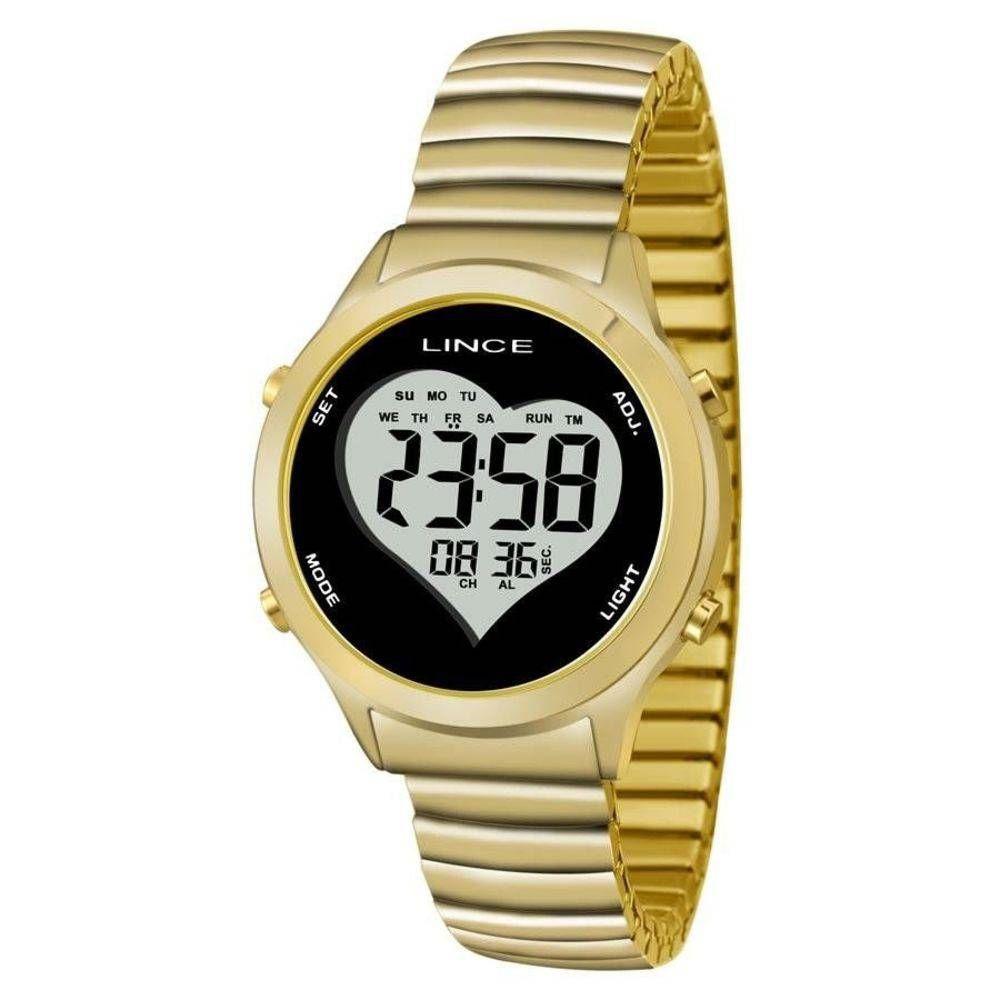 c0d4052359e Relógio Feminino Lince Digital SDPH065L BPKX - Dourado - Relógio ...