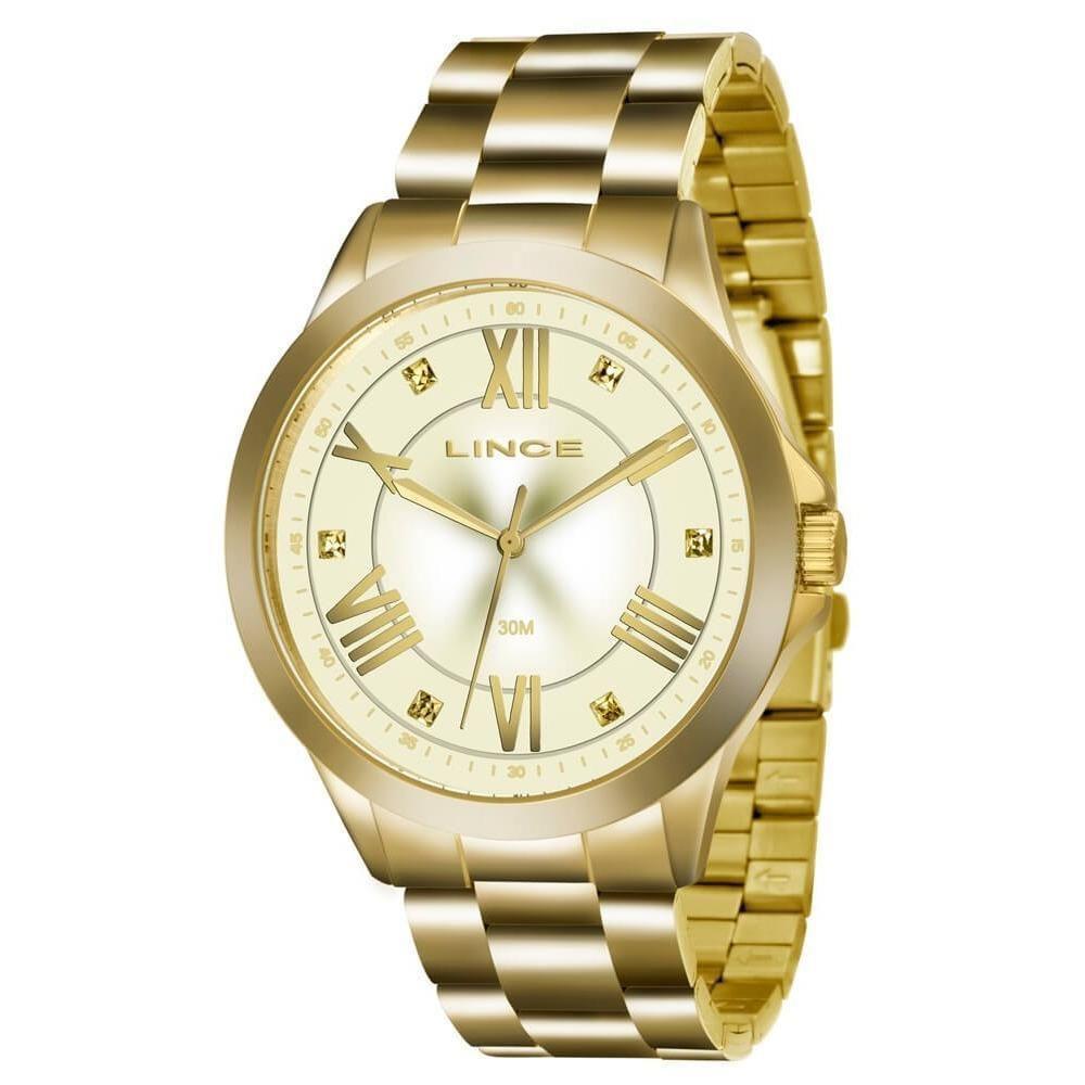 68ca14daab8 Relógio Feminino Lince - Dourado - Lrgj046l C3kx - Relógio Feminino ...