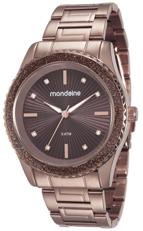 a1fd65edc49 Relógio Feminino Mondaine 76568LPMVME6 42mm Pulseira Aço Marrom Produto não  disponível