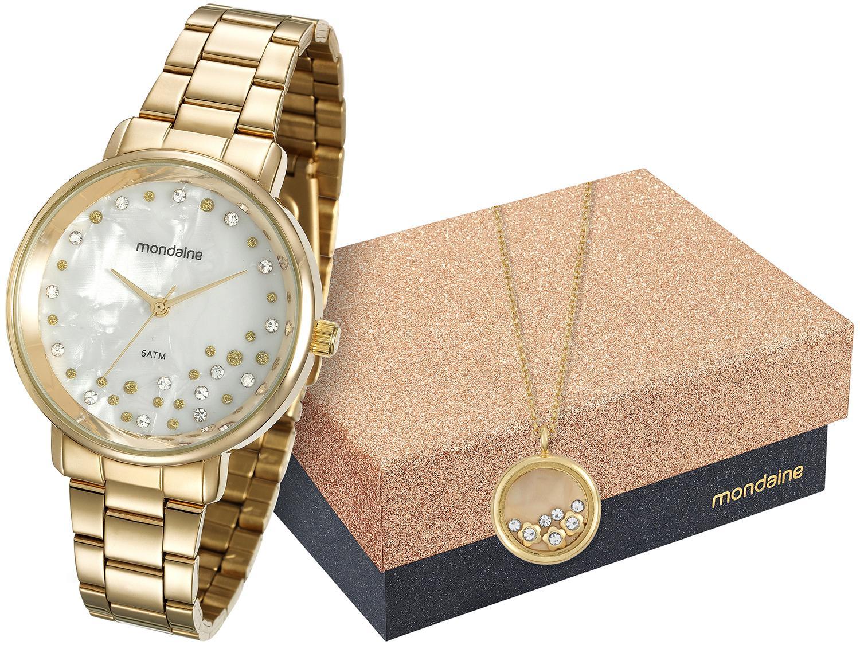 1caaffac2f7 Relógio Feminino Mondaine Analógico - Resistente à Água 53571LPMVDE1K com  Bijouteria Produto não disponível