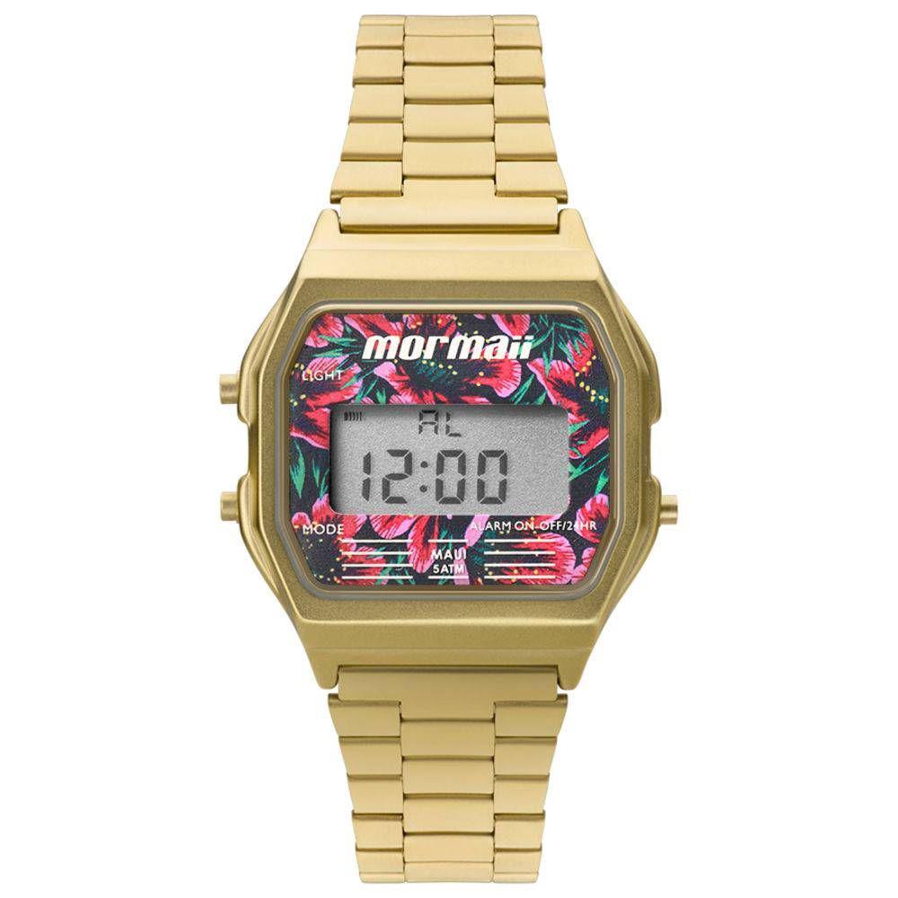 ae79169d1fa1c Relógio Feminino Mormaii Vintage Digital Mojh02ad 4d Dourado Produto não  disponível