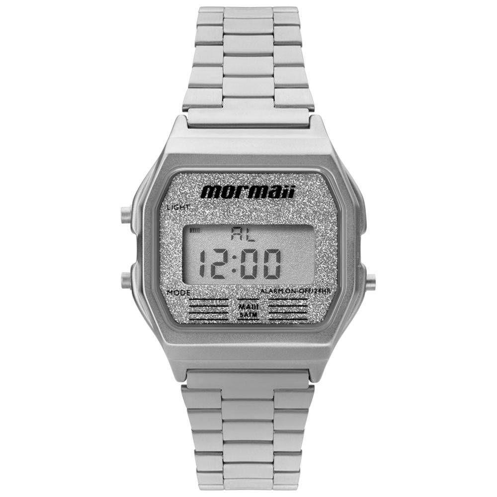 4123fceda38 Relógio Feminino Mormaii Vintage Digital MOJH02AE 3B Prata Produto não  disponível