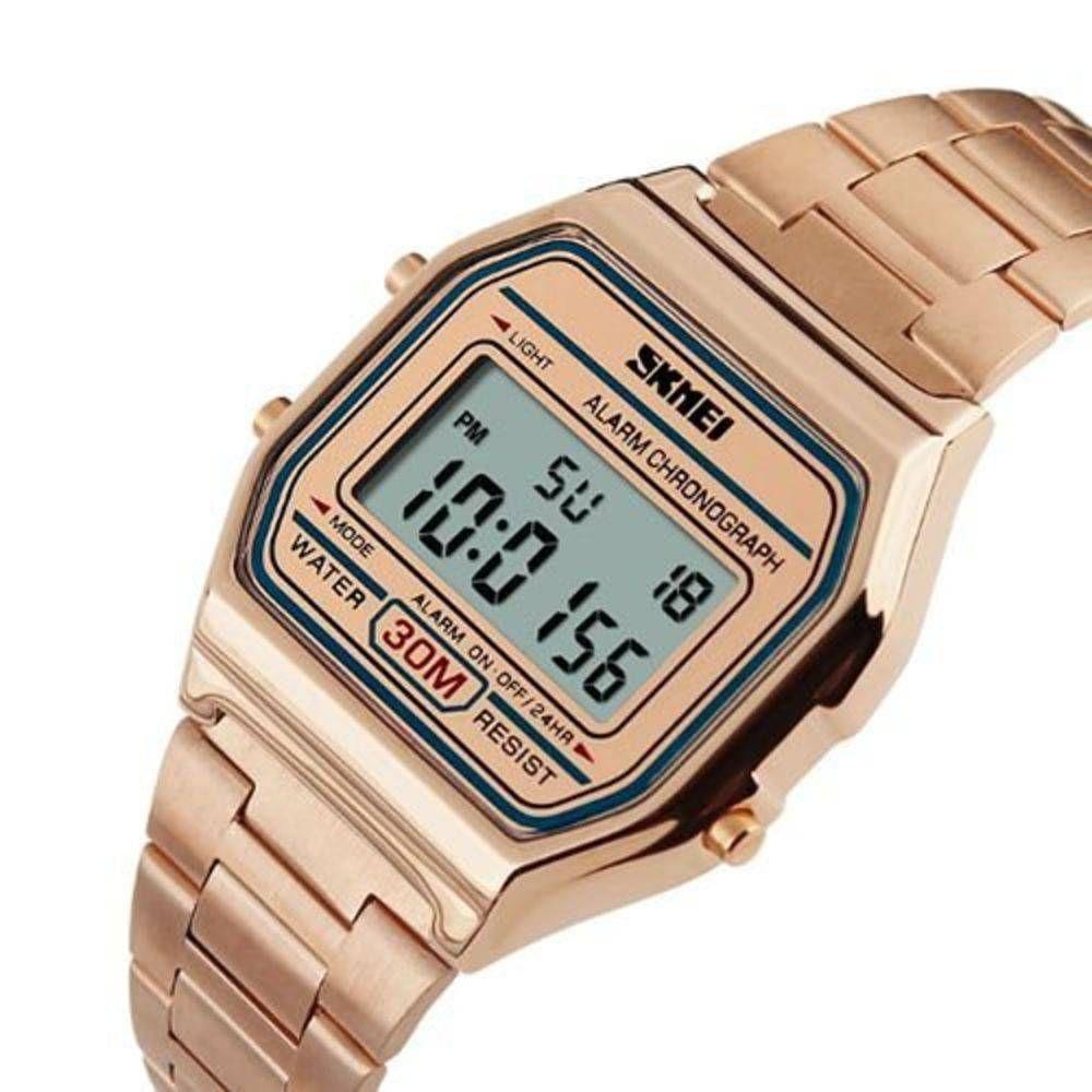 565c5ab87 Relógio Feminino retro Skmei Digital 1123 Rose gold - Relógio ...