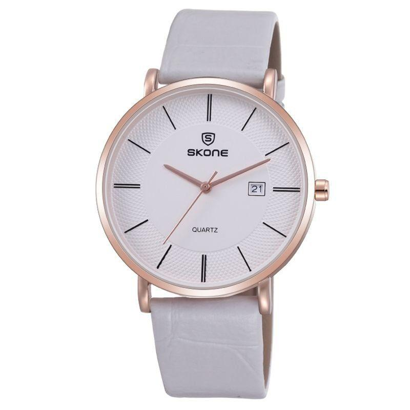 6e30a53fbe4 Relógio Feminino Skone Analógico Casual 9307BG Branco e Dourado Produto não  disponível