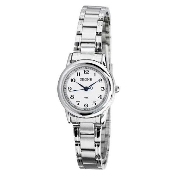 5cdaaa1be1b Relógio feminino skone analógico casual branco 7055 Produto não disponível