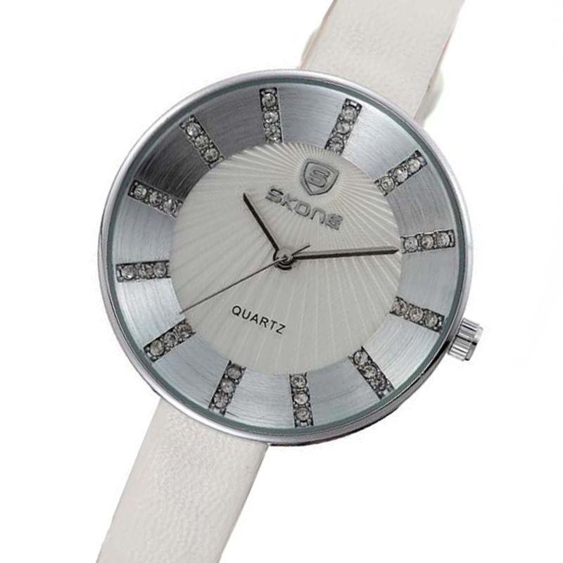 1bb65bdc8c1 Relogio feminino skone analogico casual branco 9250 - Relógio ...