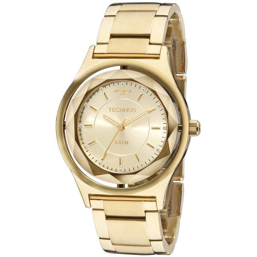 8c110539c54 Relógio Feminino Technos Crystal 2035MIC 4X 39mm Aço Dourada Produto não  disponível