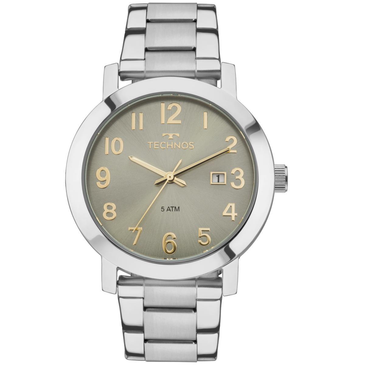 14dcef8afe612 Relógio Feminino Technos Dress 2115MNE 4V Pulseira Aço Prata Produto não  disponível