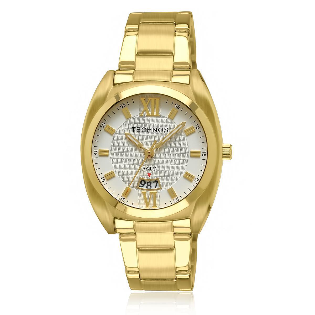 38fa35d6892 Relógio Feminino Technos Elegance Boutique Analógico 2015CB 4B Dourado R   309