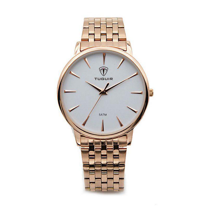 7a270352a1a Relógio Feminino Tuguir Analógico 5041 Rose e Branco - Relógio ...