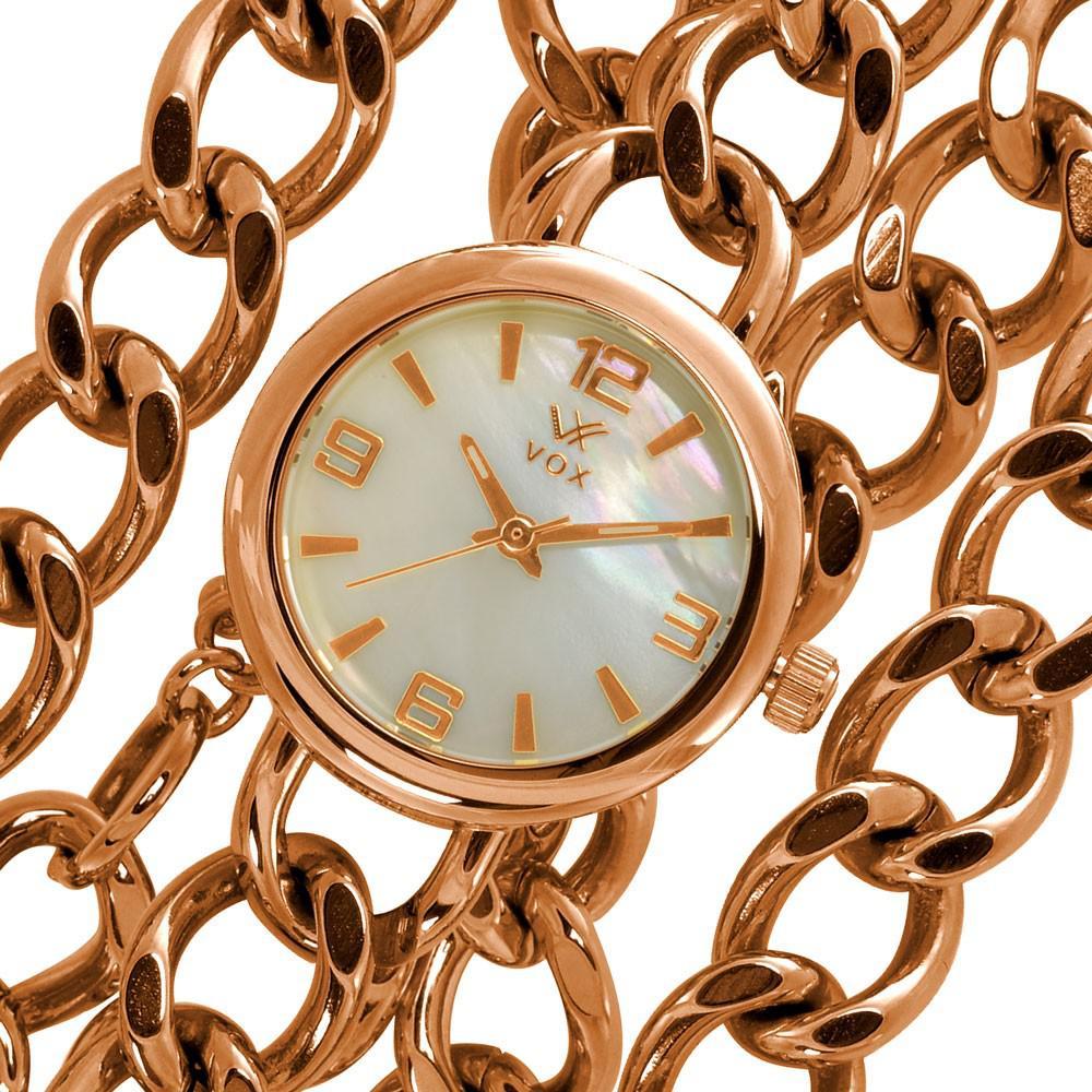 8e11631510f Relogio Feminino Vox Analogico Social Georgia Caixa Metal Dourado Rose R   235