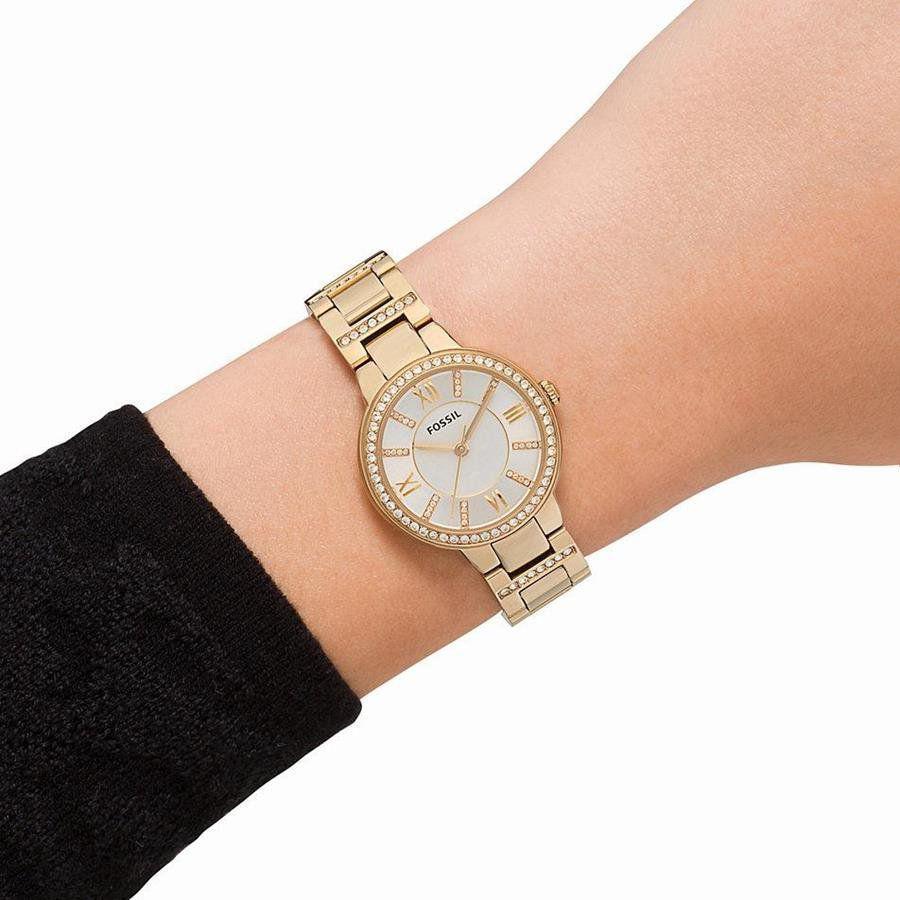 24cc3c6460ec1b Relógio Fossil Feminino Ref: Es3283/4bn Social Dourado R$ 599,90 à vista.  Adicionar à sacola