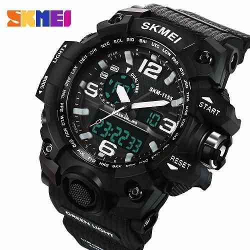 0a3b7a21ba6 Relógio Masculino Ana dig Prova Dágua S-shock Skmei 1155 - Relógio ...